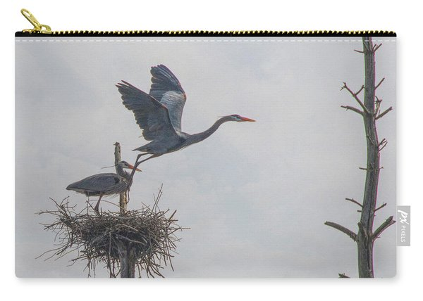 Nesting Great Blue Heron Carry-all Pouch