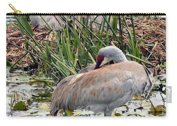 Nesting Sandhill Crane Pair Carry-all Pouch