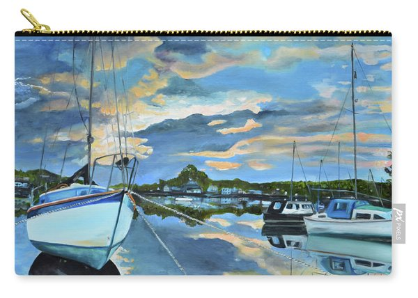Nestled In For The Night At Mylor Bridge - Cornwall Uk - Sailboat  Carry-all Pouch