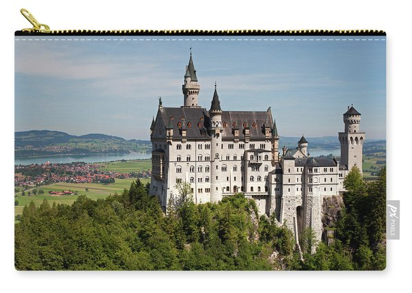 Neuschwanstein Castle With Village Carry-all Pouch