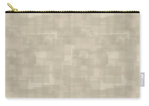Neutral Brown Abstract Pattern Carry-all Pouch