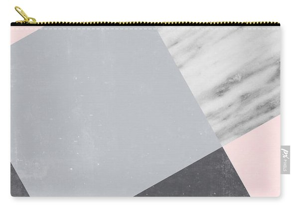 Neutral Collage With Marble Carry-all Pouch