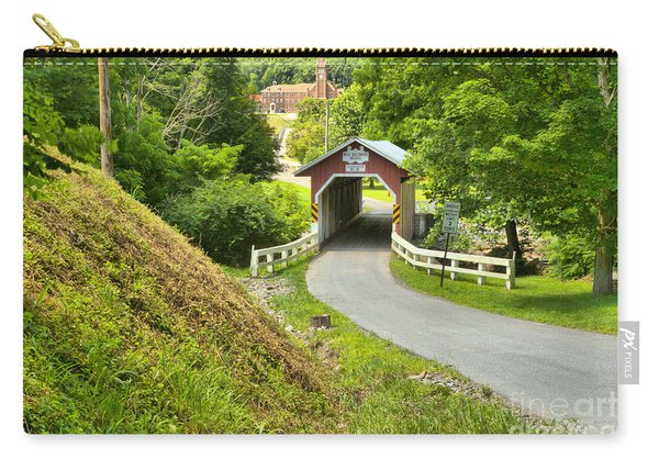 New Baltimore Covered Bridge Through The Forest Carry-all Pouch