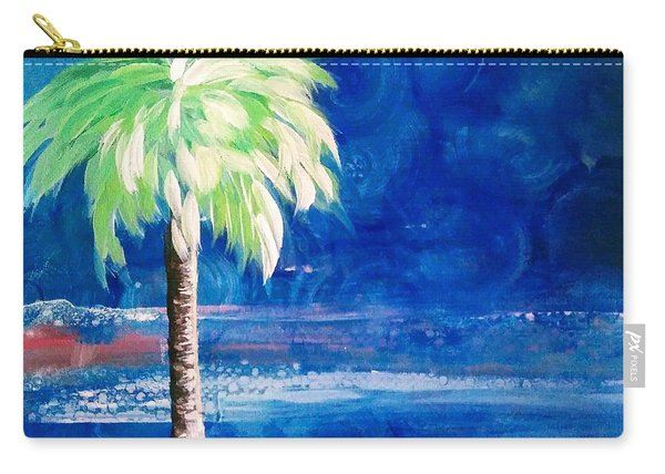 New Blue Horizons Palm Tree Carry-all Pouch