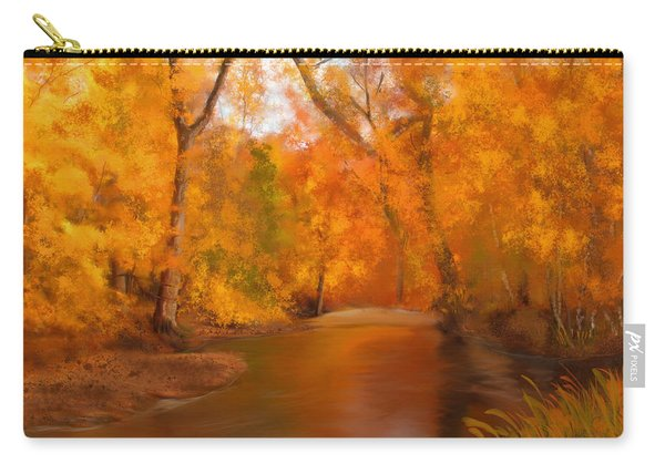 New England Autumn In The Woods Carry-all Pouch