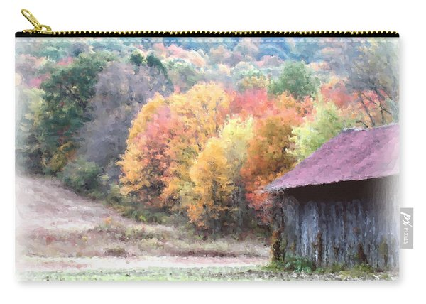 New England Tobacco Barn In Watercolor Carry-all Pouch