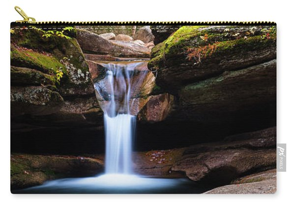 New Hampshire Sabbaday Falls And Fall Foliage Panorama Carry-all Pouch
