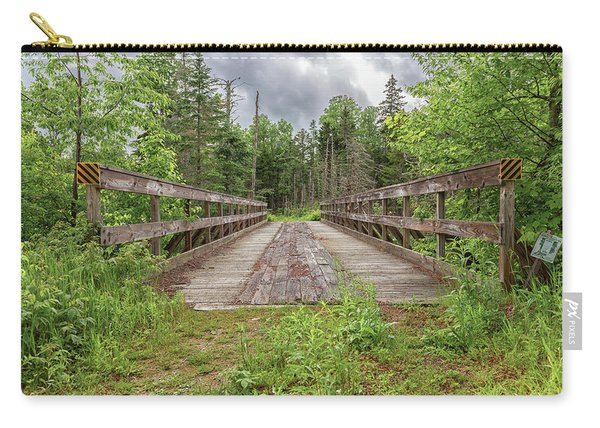 New Hampshire Snowmobile Trail Bridge Carry-all Pouch