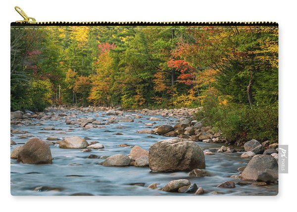 New Hampshire White Mountains River In Autumn With Fall Foliage Carry-all Pouch
