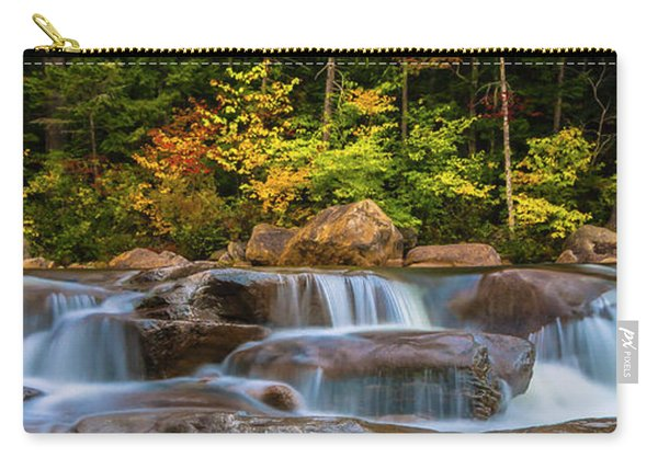 New Hampshire White Mountains Swift River Waterfall In Autumn With Fall Foliage Carry-all Pouch