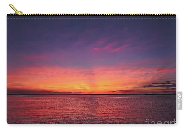 New Jersey Shore Sunset Carry-all Pouch