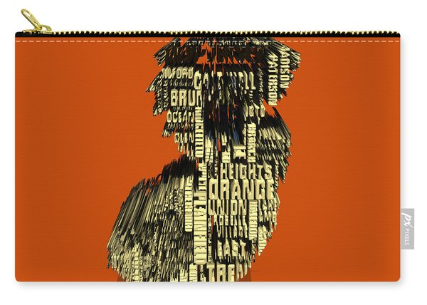 New Jersey Typographic Map 4e Carry-all Pouch