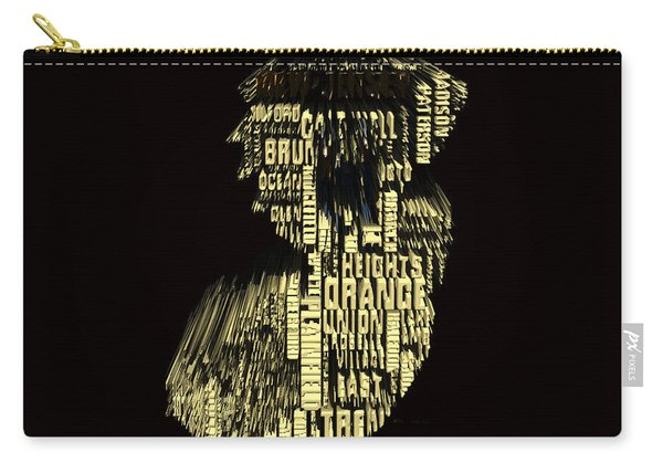 New Jersey Typographic Map 4f Carry-all Pouch