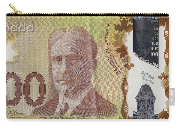 New One Hundred Canadian Dollar Bill Carry-all Pouch