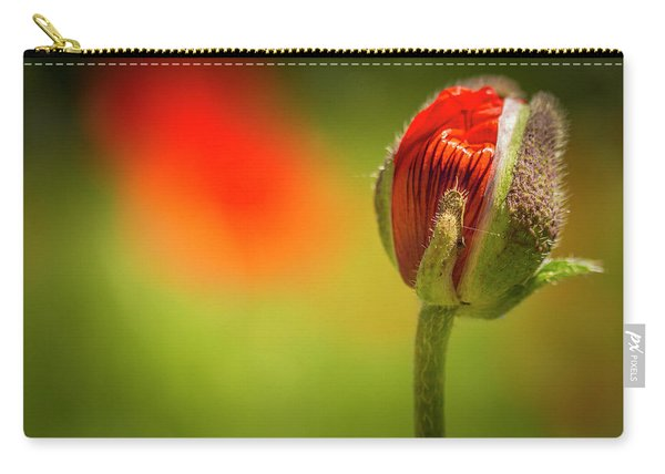 New Orange Poppy Bloom Carry-all Pouch