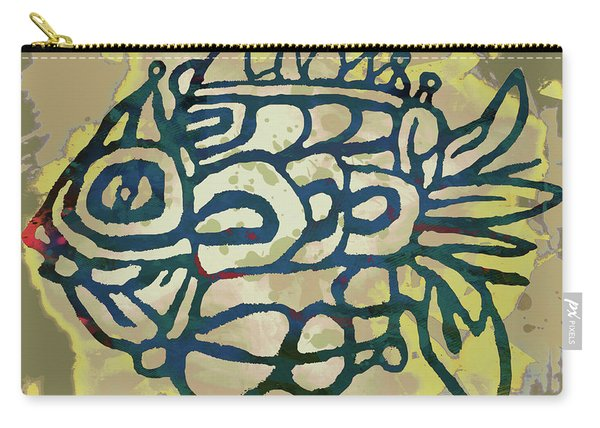 New Pop Art - Tropical Fish Poster Carry-all Pouch