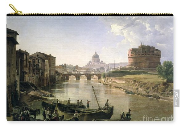 New Rome With The Castel Sant Angelo Carry-all Pouch