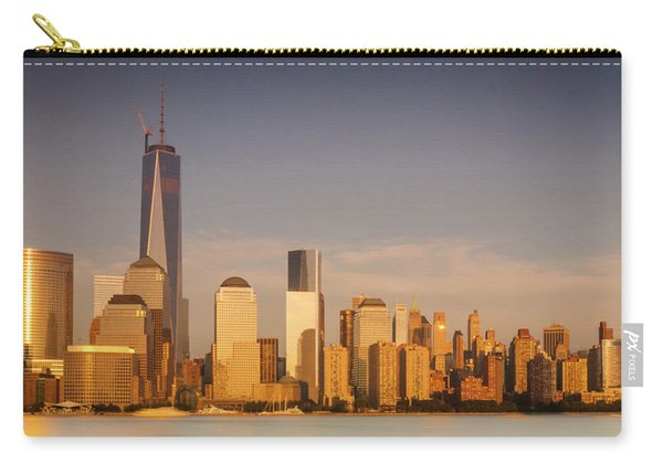 New World Trade Memorial Center And New York City Skyline Panorama Carry-all Pouch