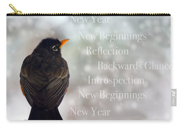 New Years Card Carry-all Pouch