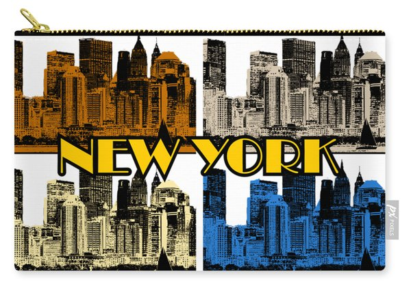 New York 4 Color Carry-all Pouch