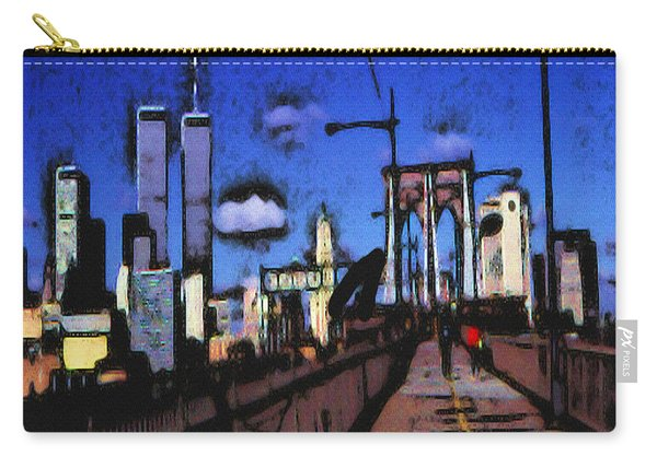 New York Blue - Modern Art Painting Carry-all Pouch