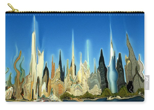 New York City Skyline 2100 - Modern Artwork Carry-all Pouch
