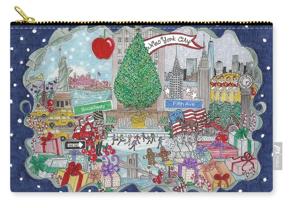 New York City Holiday Carry-all Pouch
