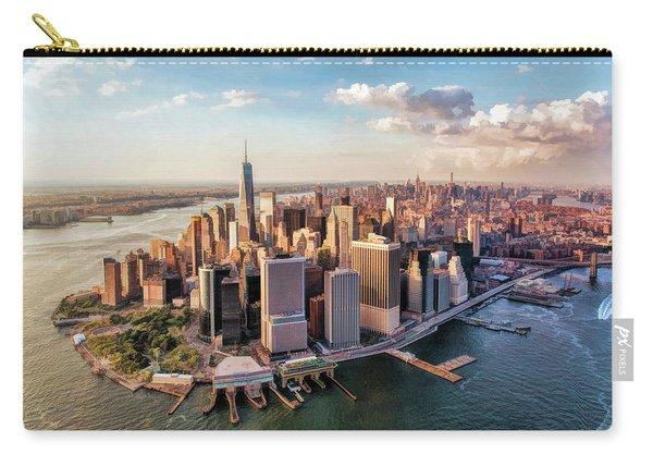 New York City Manhattan Aerial Skyline Carry-all Pouch