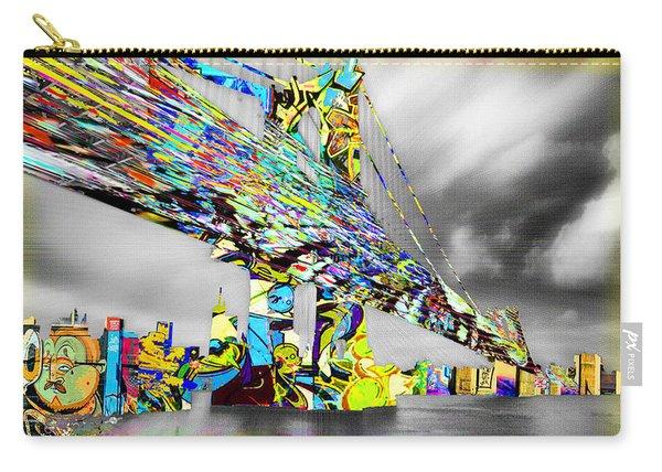 New York City Manhattan Bridge Pure Pop Gold Carry-all Pouch