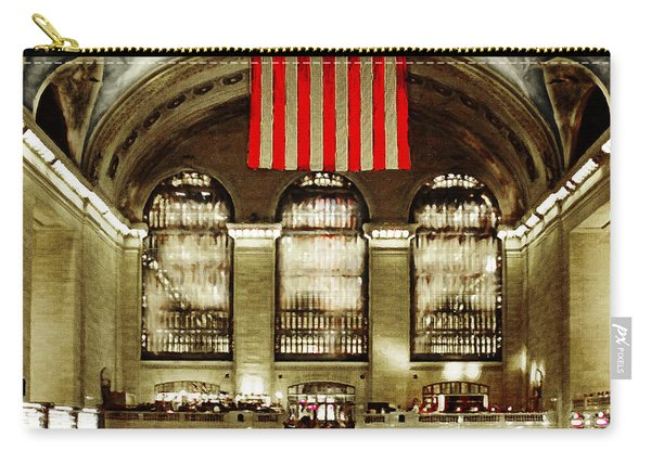 New York City Midtown Manhatten Grand Central Terminal 20160215 Square Carry-all Pouch