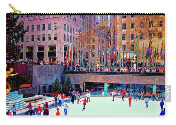 New York City Rockefeller Center Ice Rink  Carry-all Pouch