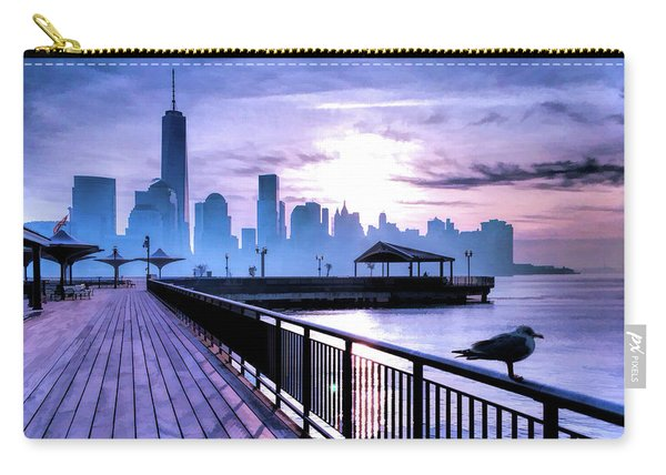 New York City Skyline Jersey City View Carry-all Pouch