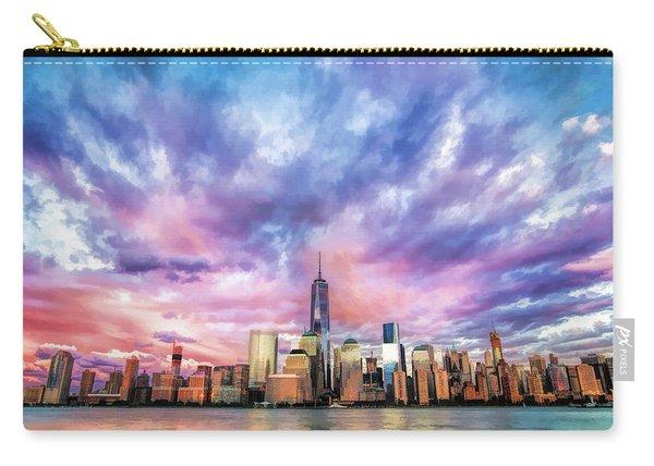 New York City Skyline Sunset Carry-all Pouch