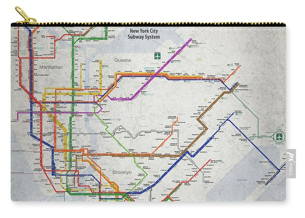 New York City Subway Map Carry-all Pouch