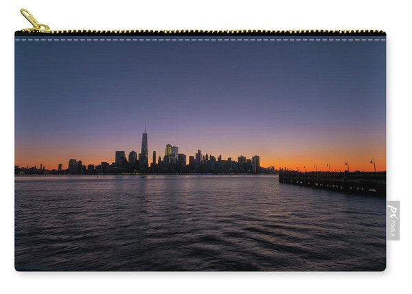 Carry-all Pouch featuring the photograph New York City Sunrise by Tom Singleton