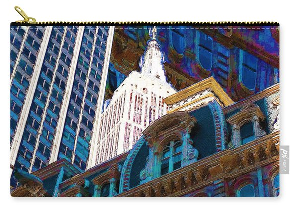 New York City Up Is Down Down Is Up Blue Carry-all Pouch