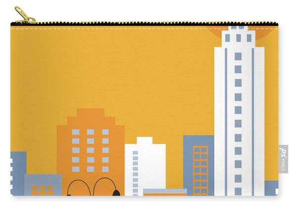 New York City Vertical Skyline - Empire State At Dawn Carry-all Pouch