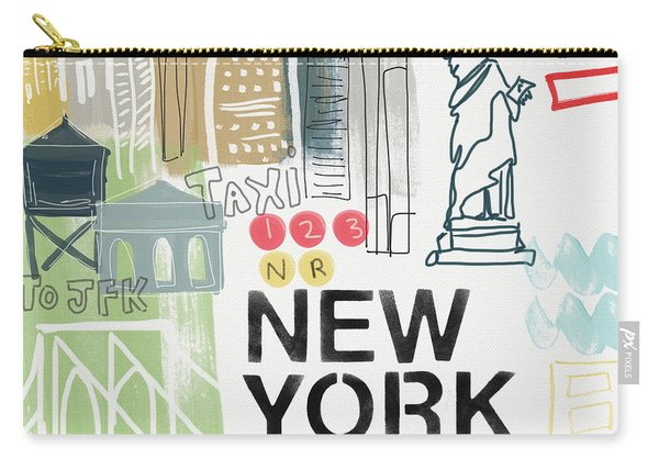 New York Cityscape- Art By Linda Woods Carry-all Pouch