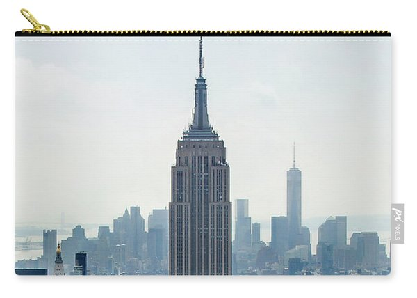 New York Classic View With Text Carry-all Pouch