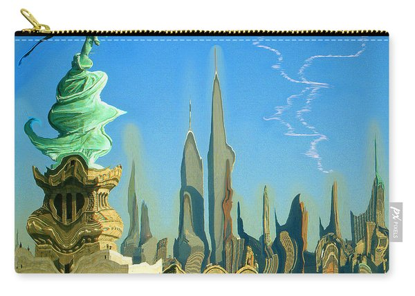 New York Fantasy Skyline - Modern Artwork Carry-all Pouch