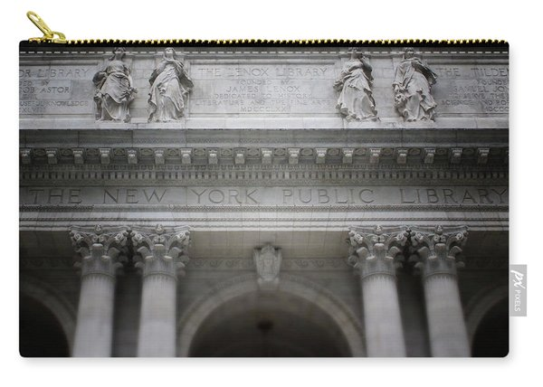 New York Public Library- Art By Linda Woods Carry-all Pouch