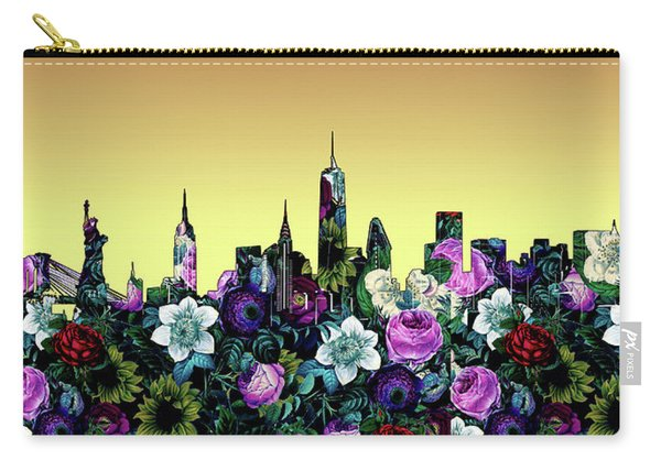 New York Skyline Floral 5 Carry-all Pouch