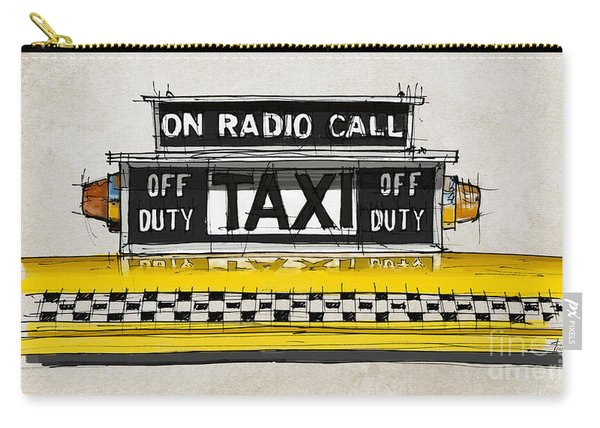 New York Taxi Sign, Yellow Cab Carry-all Pouch