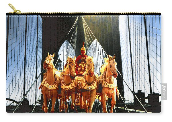 New York Brooklyn Bridge Fantasy Collage Carry-all Pouch