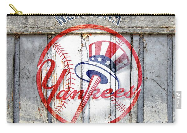 New York Yankees Top Hat Rustic Carry-all Pouch