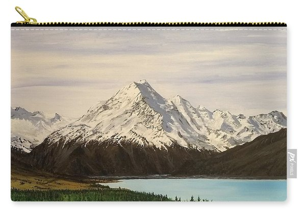 Carry-all Pouch featuring the painting New Zealand Lake by Kevin Daly