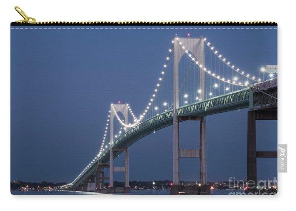 Newport Bridge Blues Carry-all Pouch