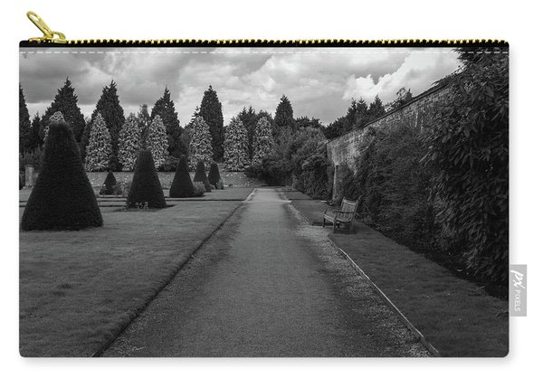 Carry-all Pouch featuring the photograph Newstead Abbey Country Garden Gravel Path by Scott Lyons