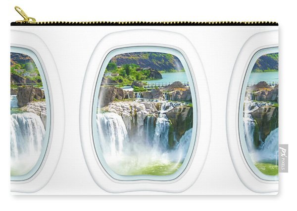 Carry-all Pouch featuring the photograph Niagara Falls Porthole Windows by Benny Marty
