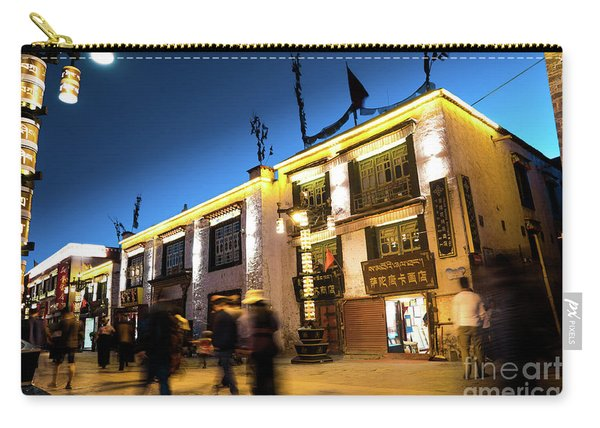 Night At Jokhang Temple Lhasa Kora Tibet Artmif.lv Carry-all Pouch